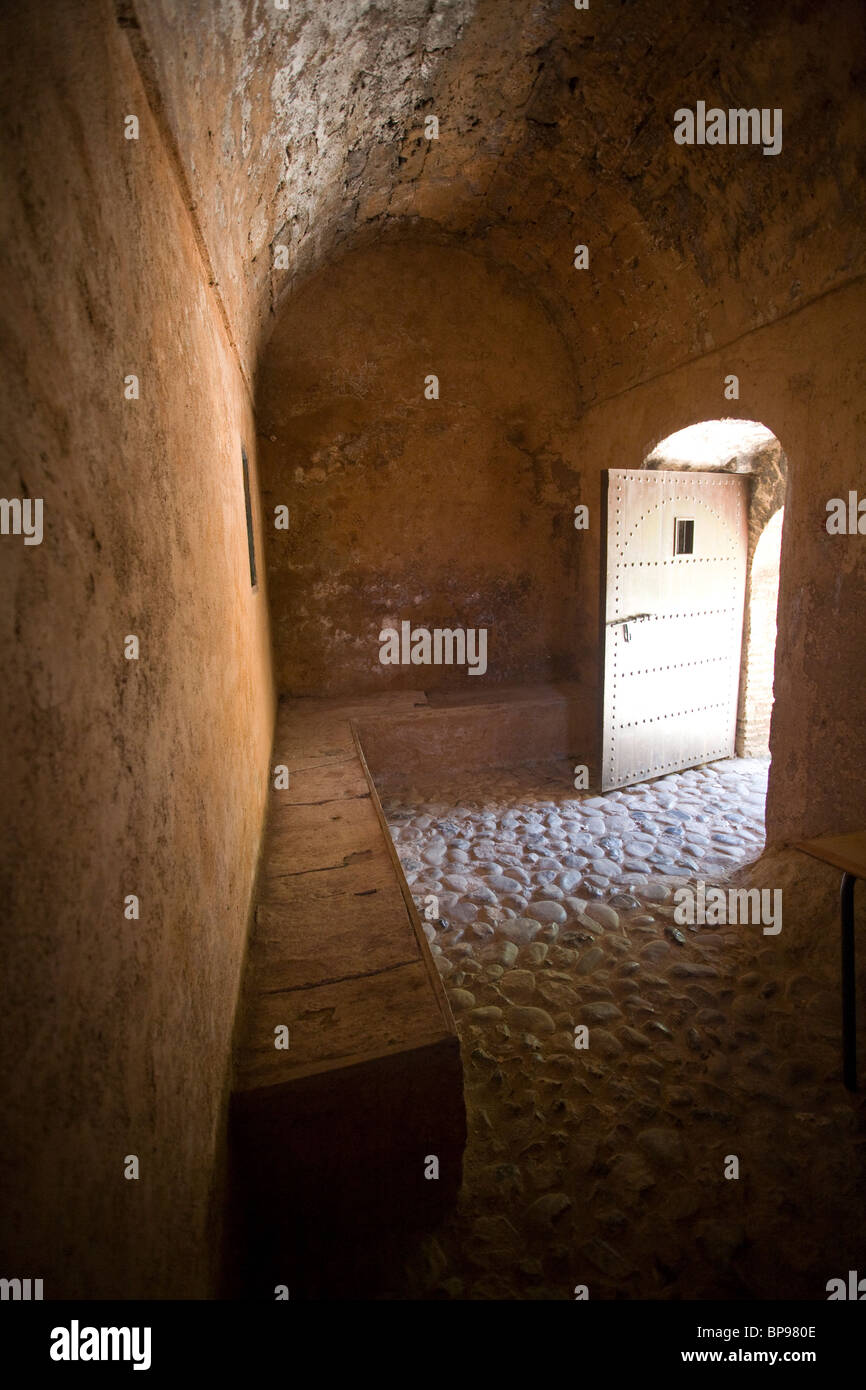 An old prison at the kasbah in Chefchaouen, Morocco Stock Photo
