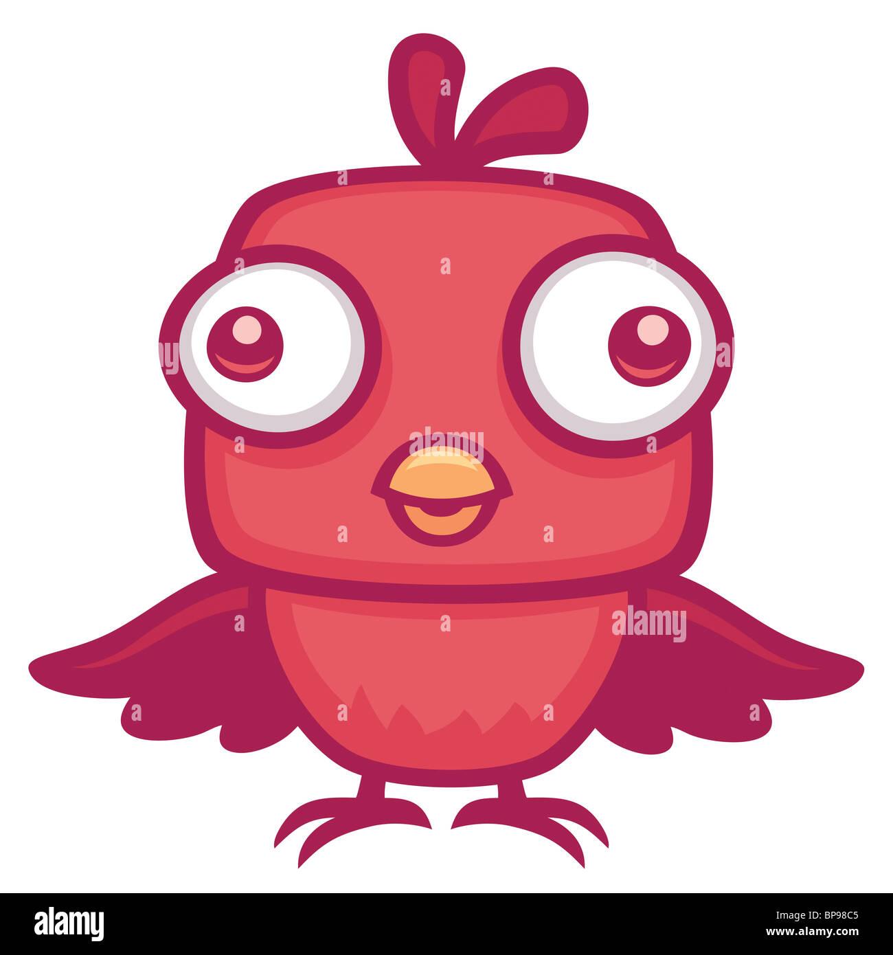 Cute Baby Bird - Stock Image