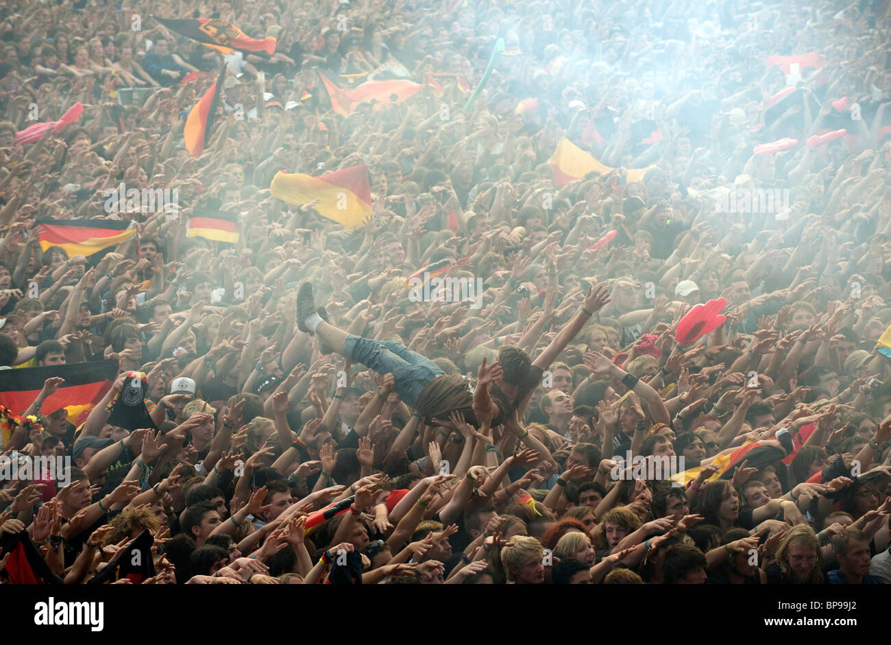 A European Football Championship game between Germany and Poland, Nuremberg, Germany - Stock Image