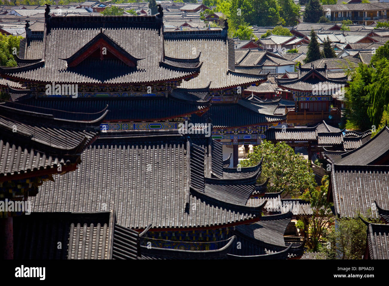 Mu Family Mansion, old town, Lijiang, Yunnan Province, China - Stock Image