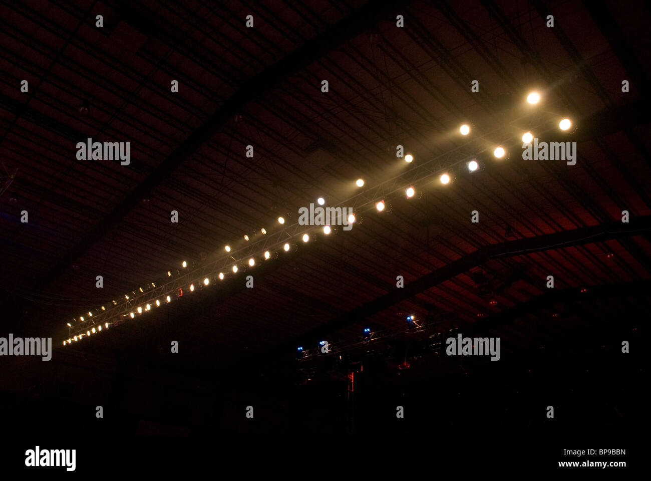 Row of stage lights Beirut Lebanon  Middle East - Stock Image