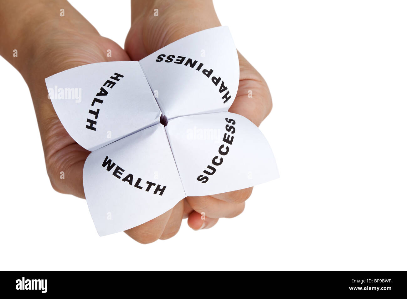 Paper Fortune Teller,concept of life balance - Stock Image