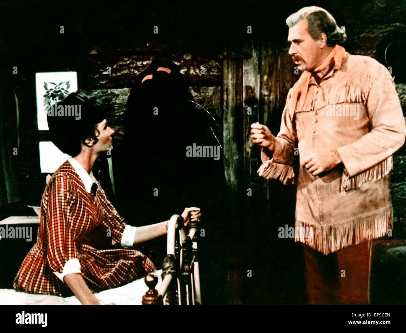 NANCY KOVACK, PHILIP CAREY, THE GREAT SIOUX MASSACRE, 1965 - Stock Image