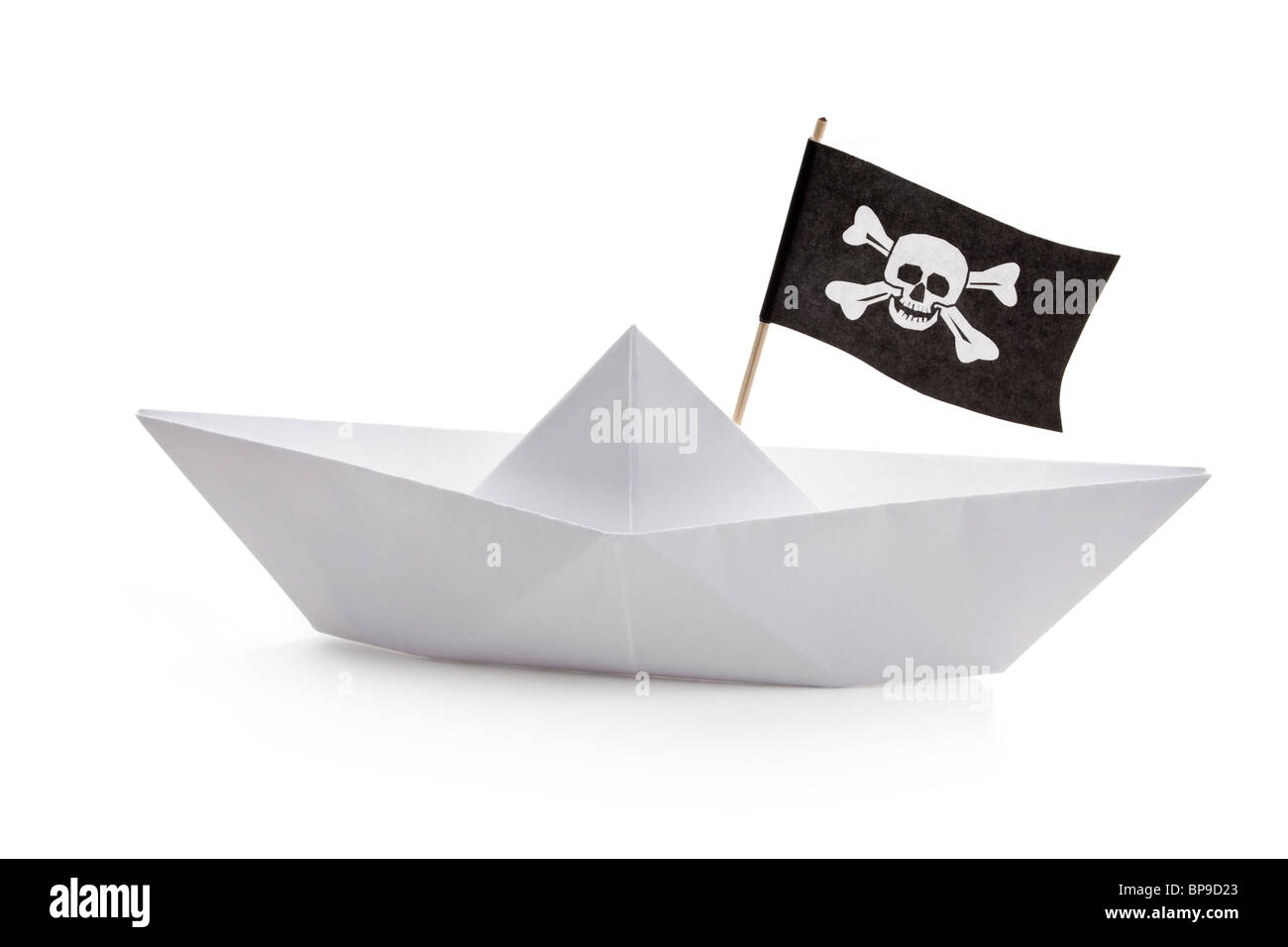Pirate Ship with white background - Stock Image