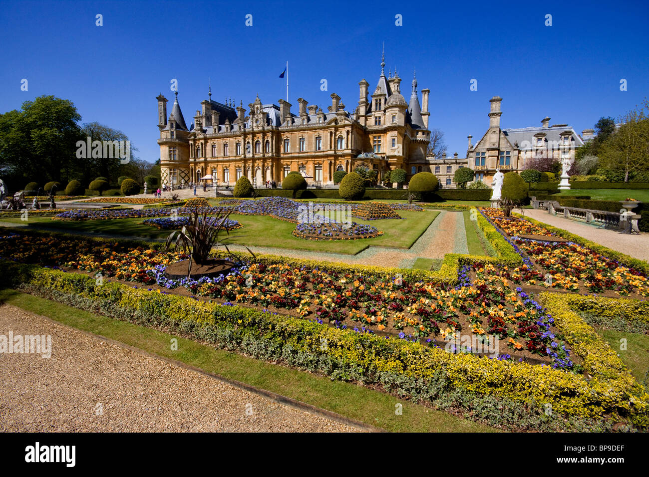 Waddesden Manor Buckinghamshire chateau stately home Rothschild - Stock Image