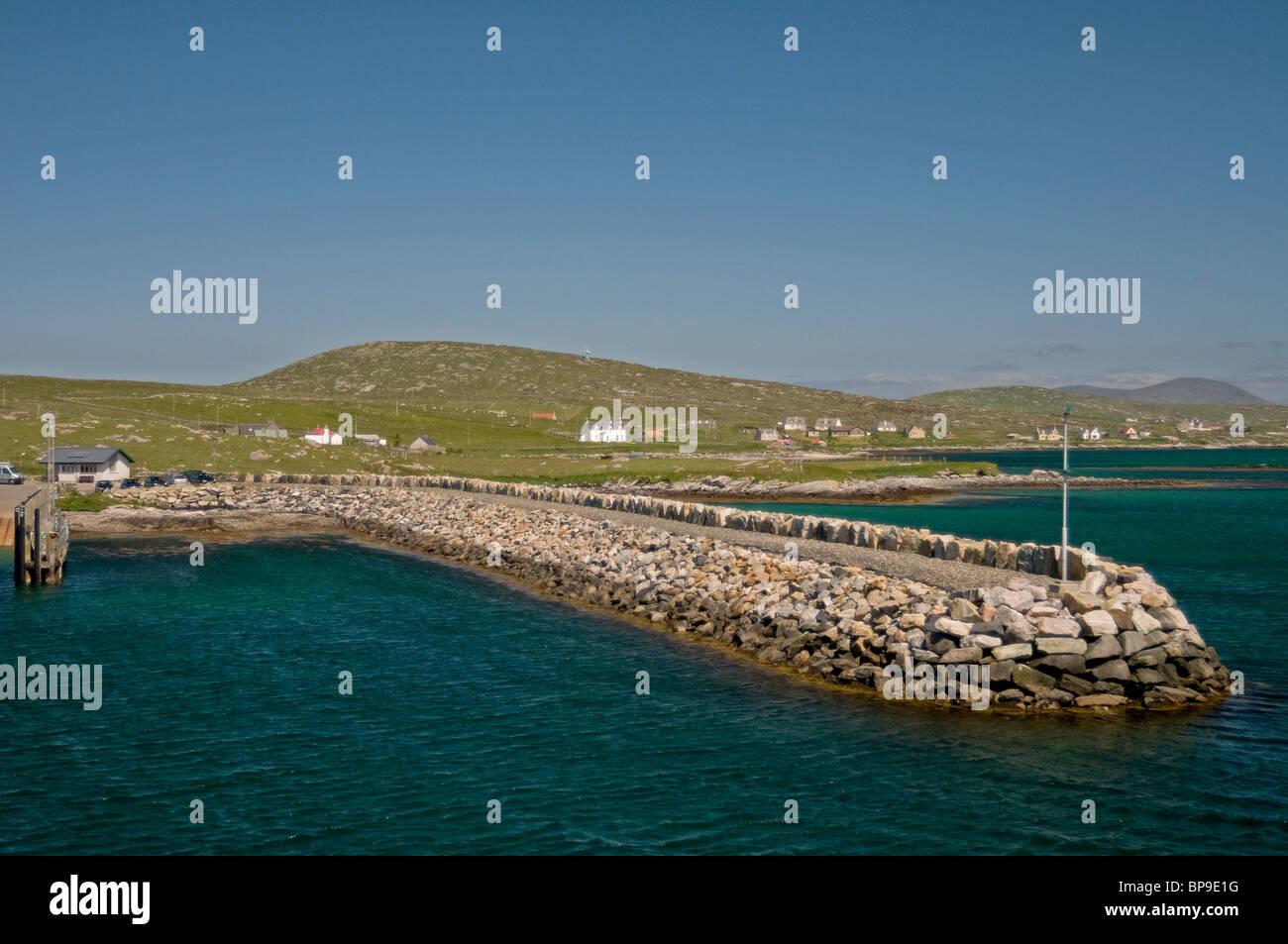The Landing stage Berneray for the CalMac MV Loch Portain, Western Isles   SCO 6347 - Stock Image