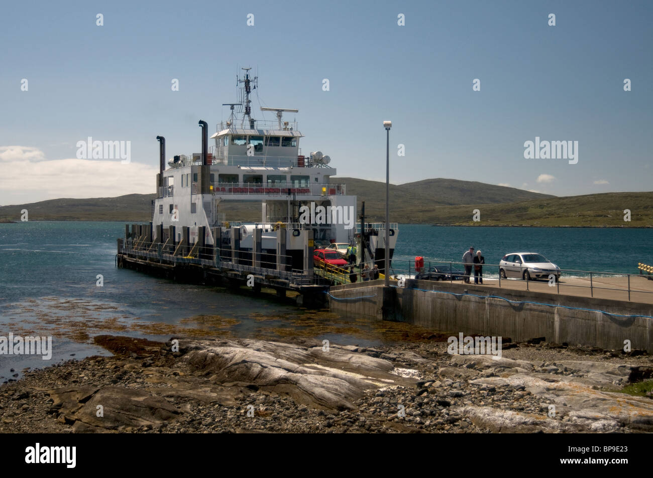The Ferry Jetty at Leverbugh, Harris, Western Isles, Scotland,  SCO 6348. - Stock Image