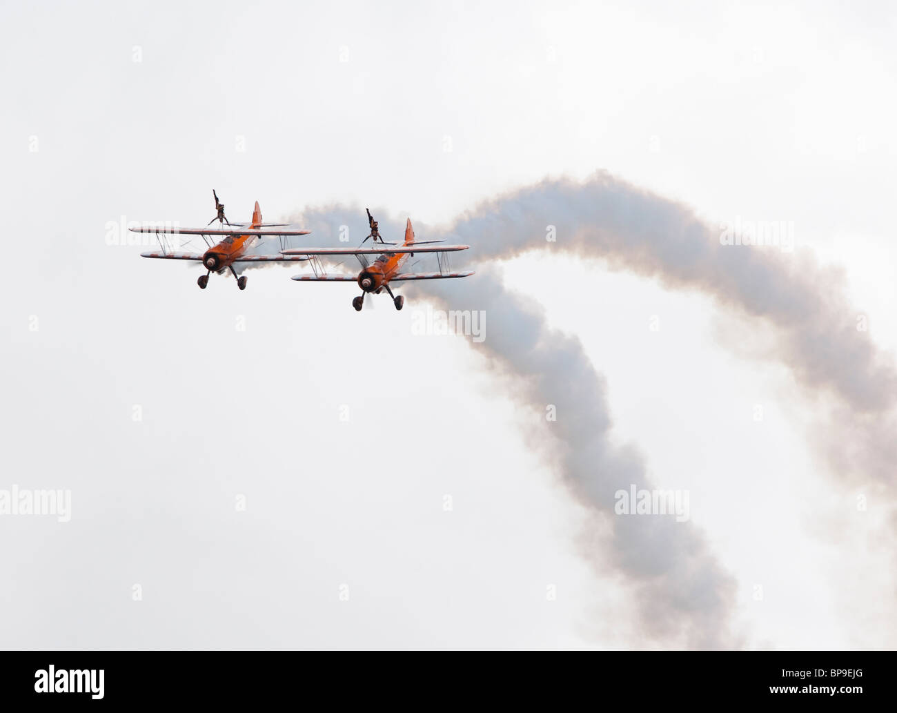 Breitling biplane team - Stock Image