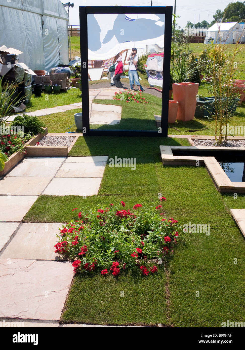 Modern Garden Design With Mirror Scotland