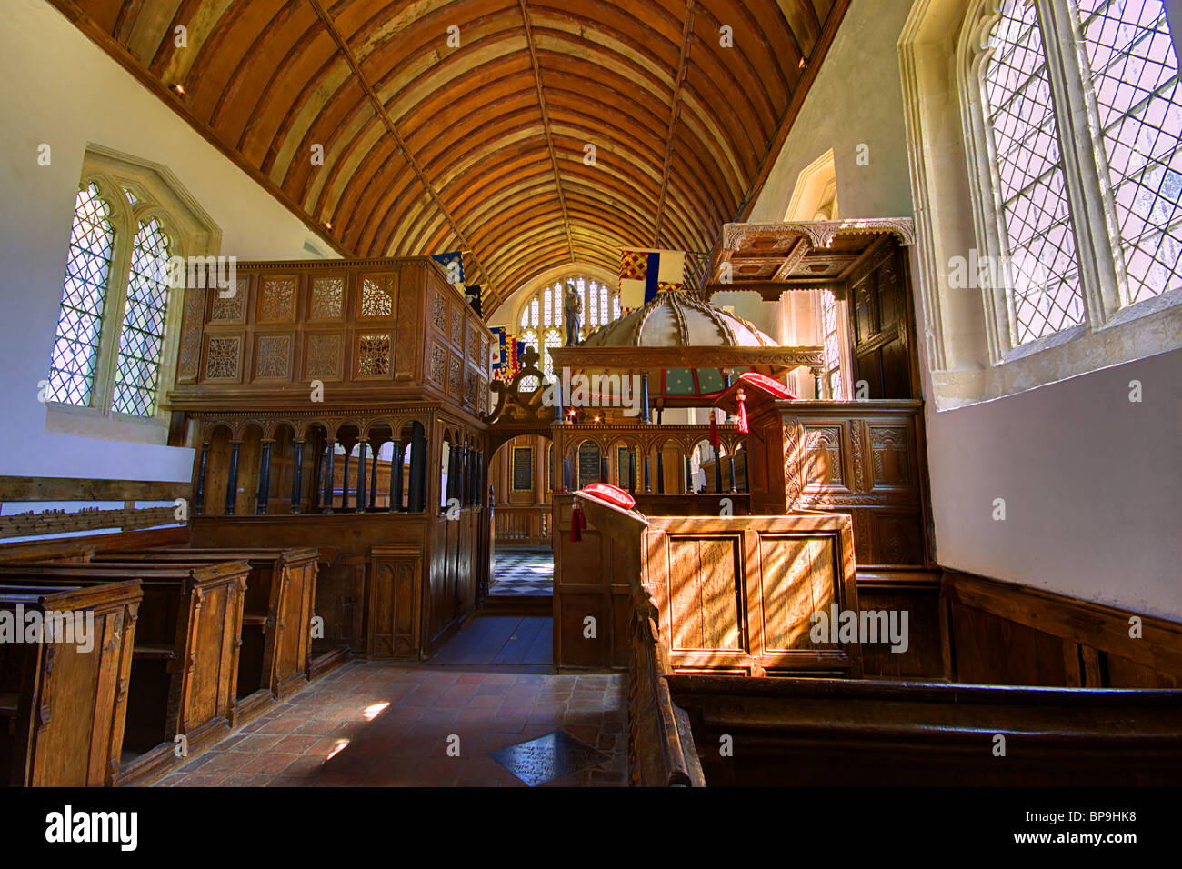 Rycote Chapel Thame Oxfordshire Medieval church - Stock Image