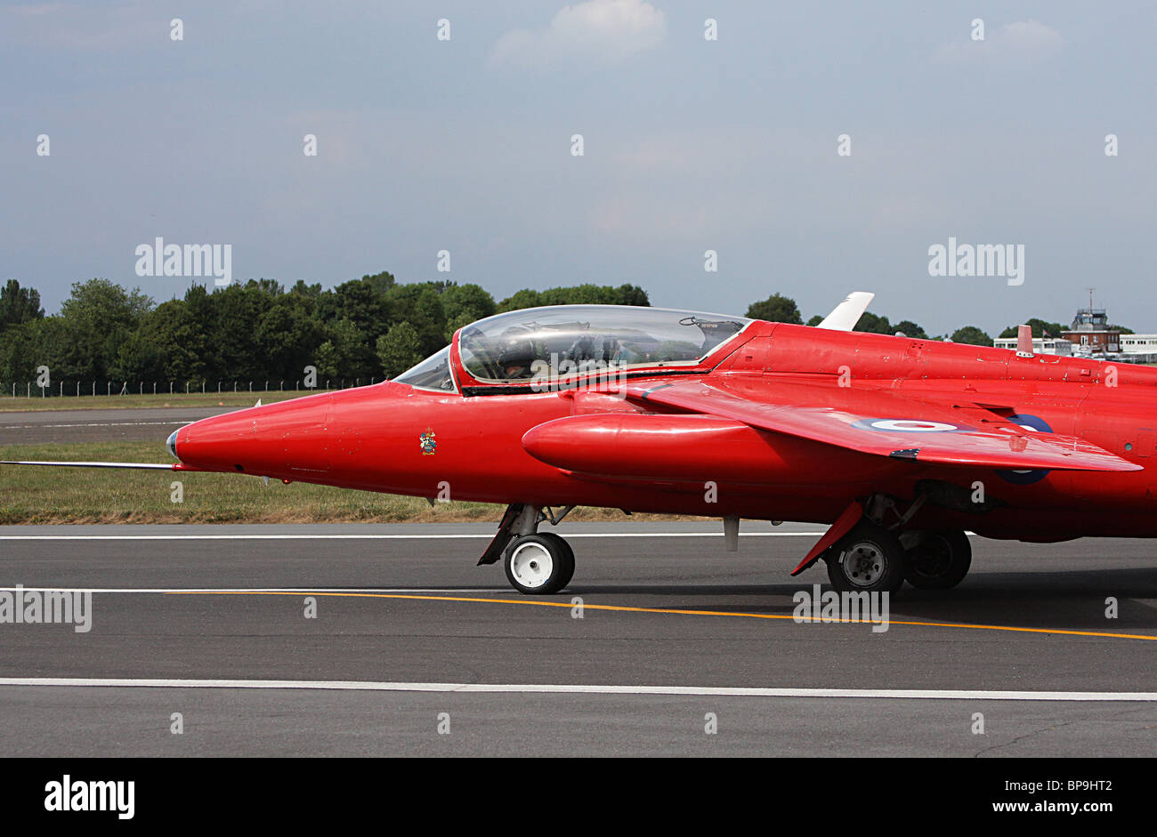 A Folland Gnat preparing for take-off - Stock Image