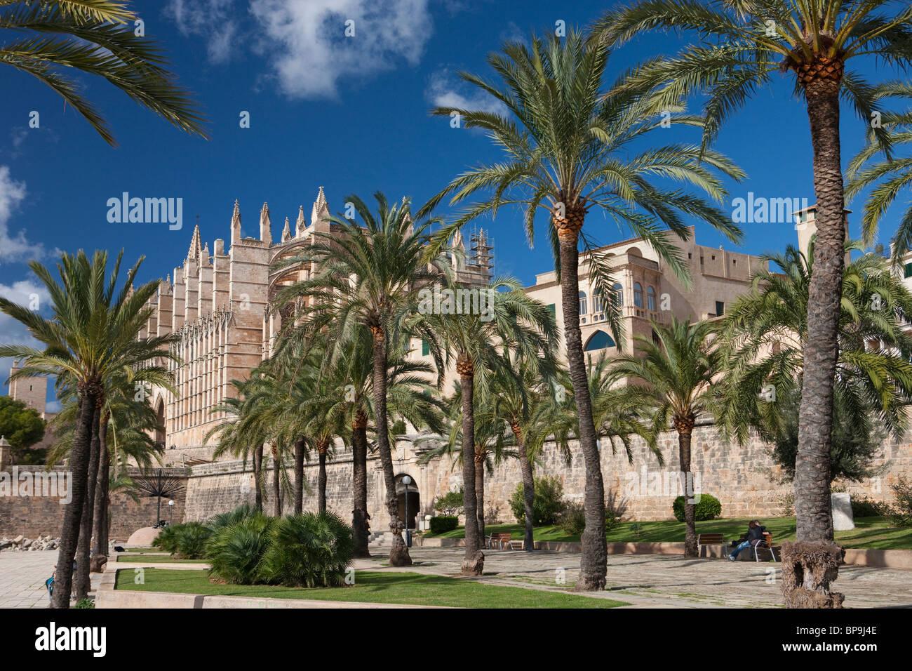 La Seu Cathedral, Palma de Mallorca, Spain - Stock Image