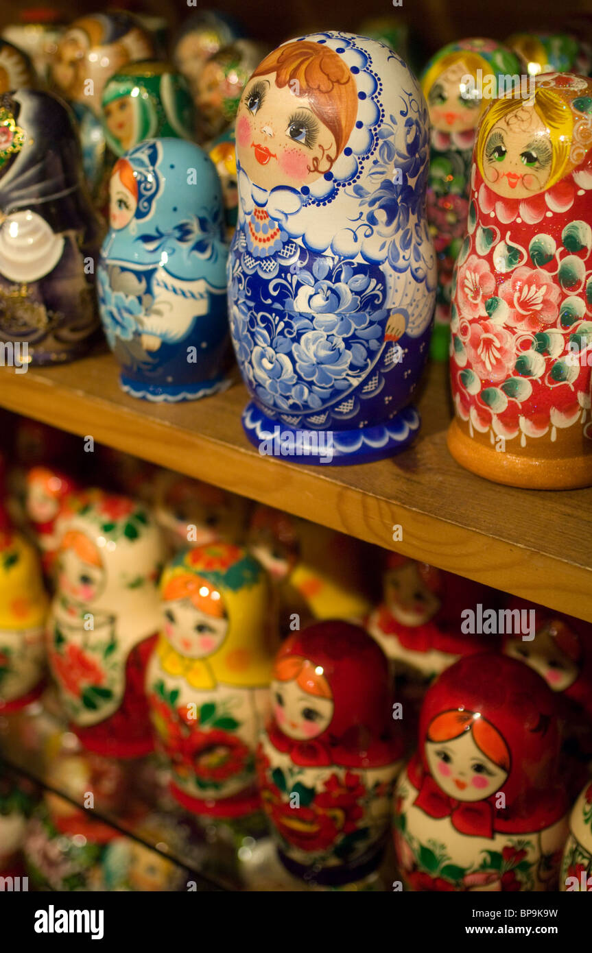 Russian Doll On Sale In Shop Stock Photos   Russian Doll On Sale In ... 395221893374