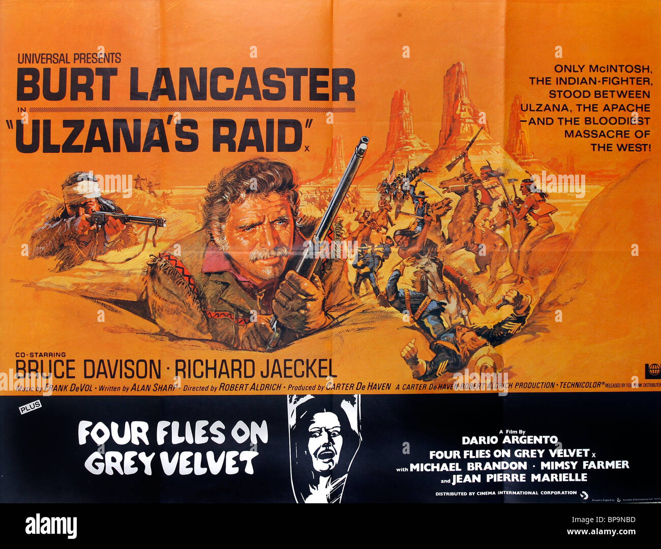 burt lancaster film poster ulzana 39 s raid 1972 stock photo 30947153 alamy. Black Bedroom Furniture Sets. Home Design Ideas