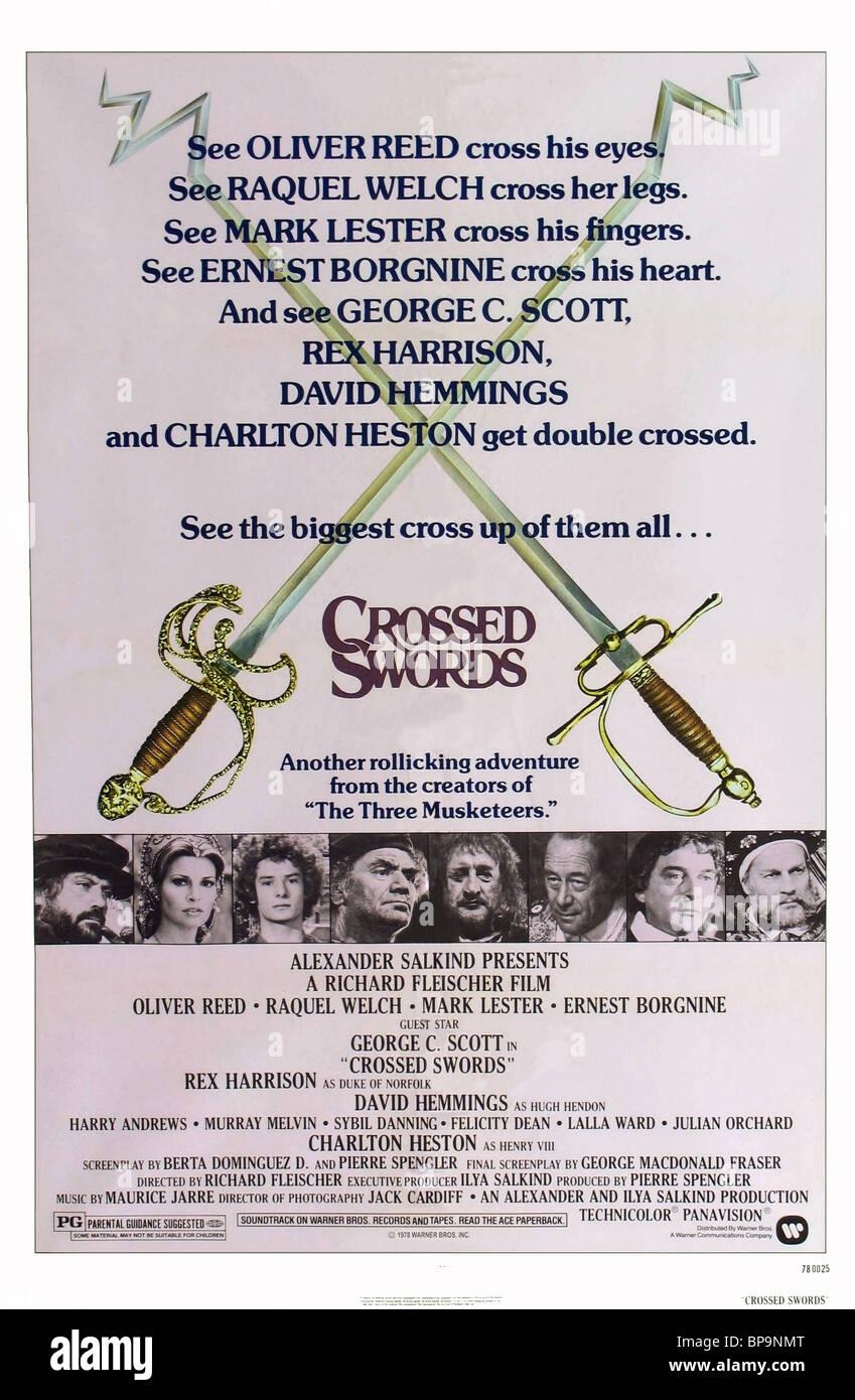 FILM POSTER CROSSED SWORDS (1977) - Stock Image