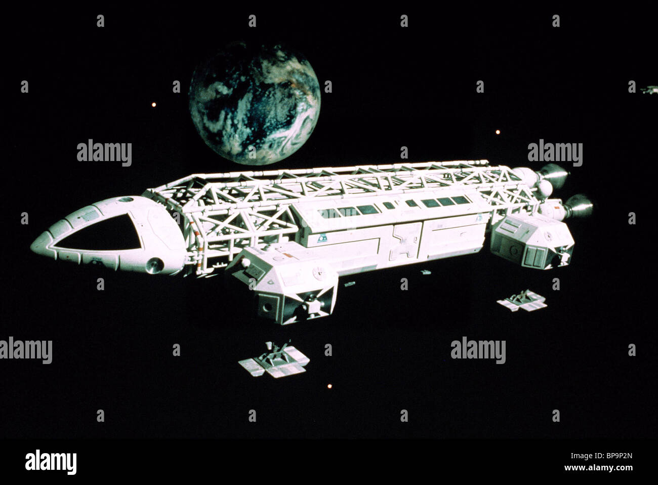 EAGLE TRANSPORTER SPACECRAFT SPACE 1999 ; SPACE: 1999 (1975) - Stock Image