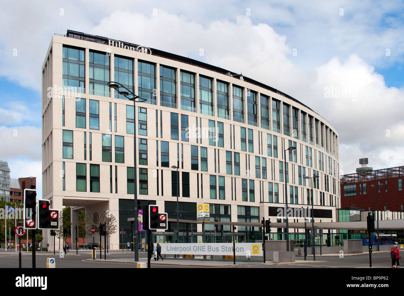 the recently opened Hilton hotel in Liverpool, UK - Stock Image