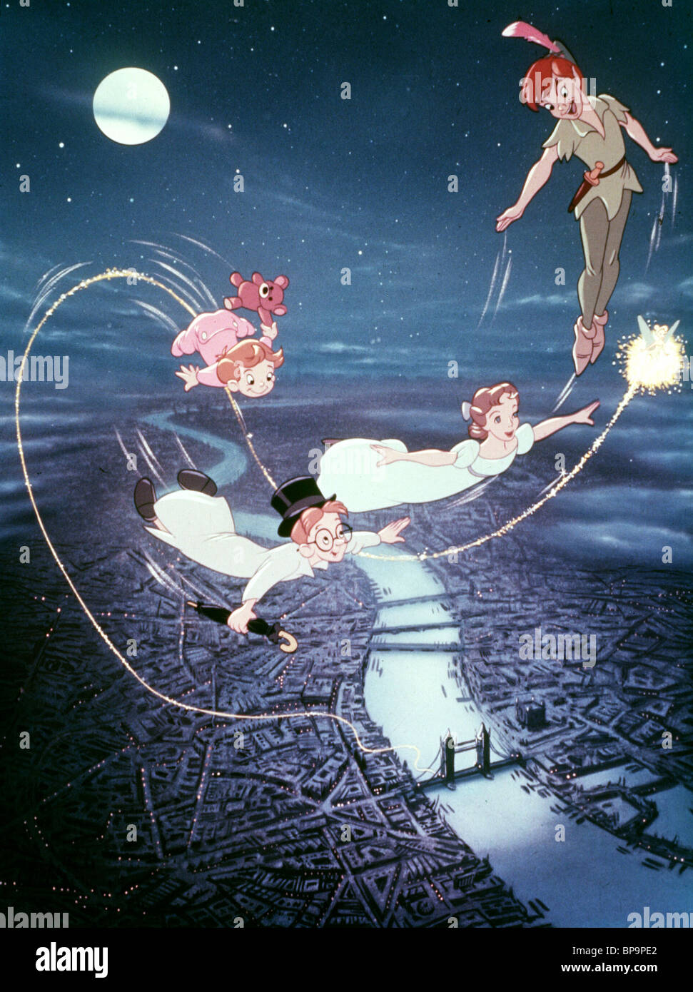 JOHN MICHAEL WENDY PETER PAN TINKERBELL FLY OVER LONDON 1953