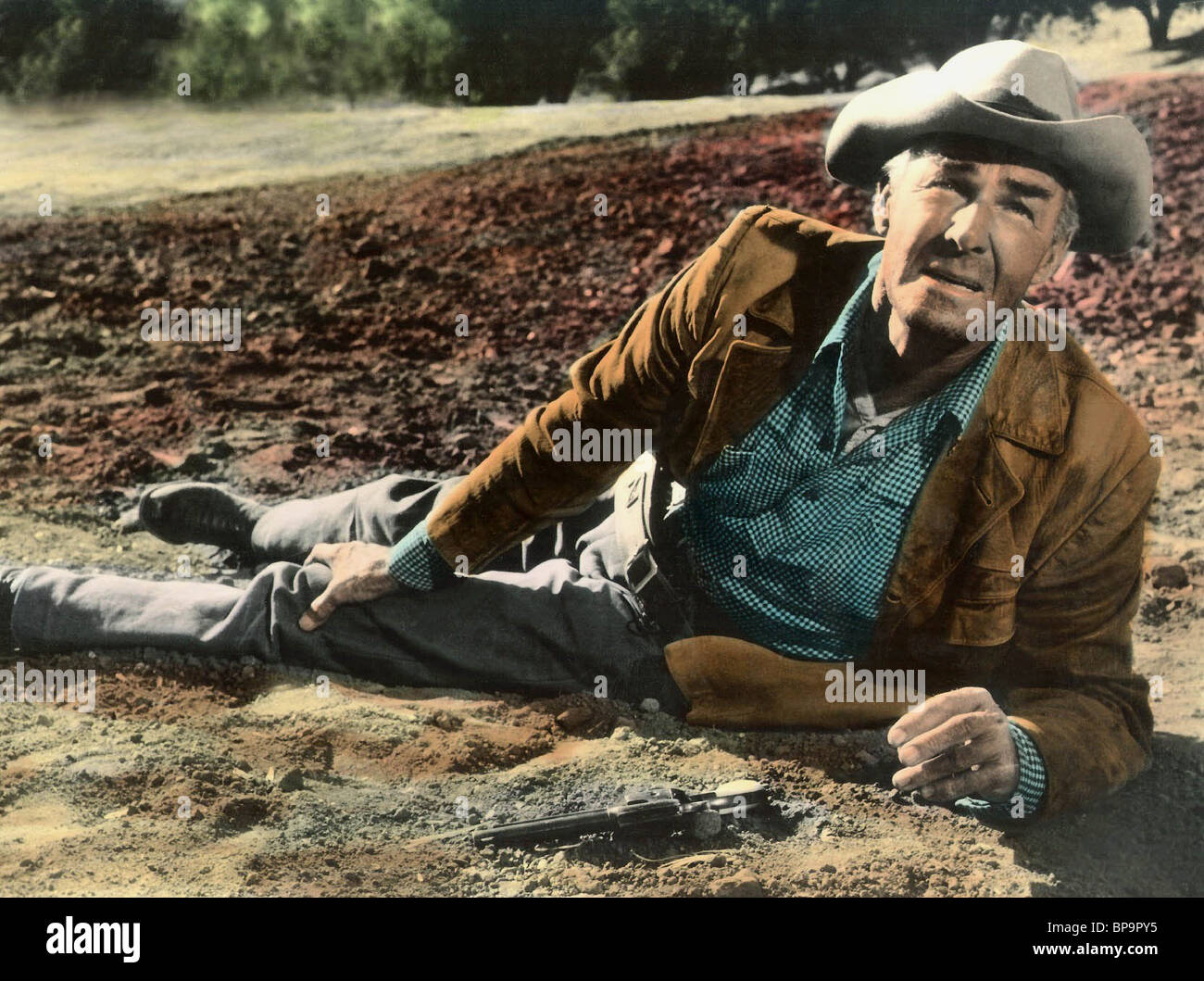 RANDOLPH SCOTT RIDE THE HIGH COUNTRY; GUNS IN THE AFTERNOON (1962) - Stock Image