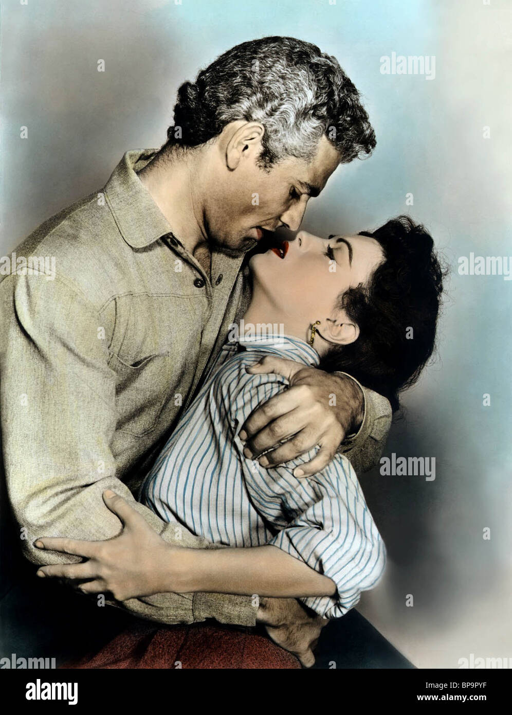 JEFF CHANDLER, FAITH DOMERGUE, THE GREAT SIOUX UPRISING, 1953 - Stock Image