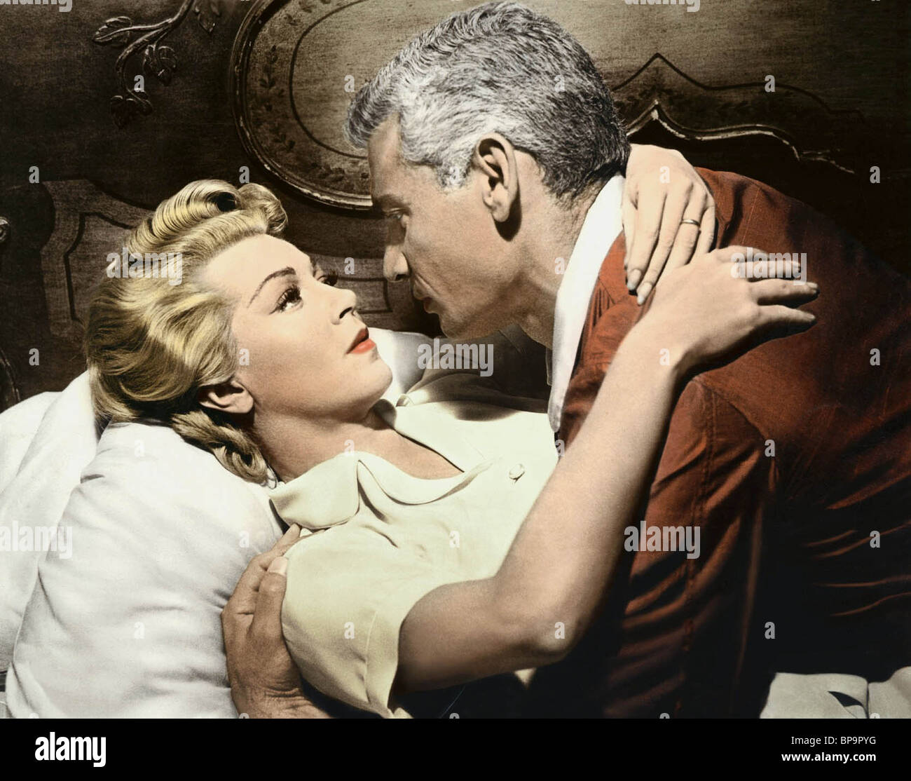 JEFF CHANDLER, LANA TURNER, THE LADY TAKES A FLYER, 1958 - Stock Image
