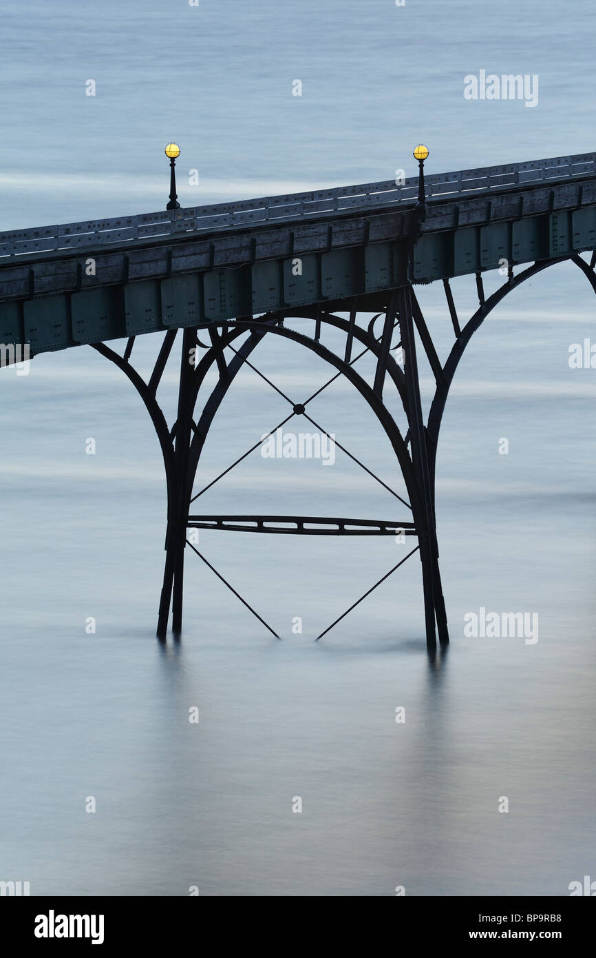 An abstract close up of one of the arches of the Victorian Pier at Clevedon, North Somerset. - Stock Image