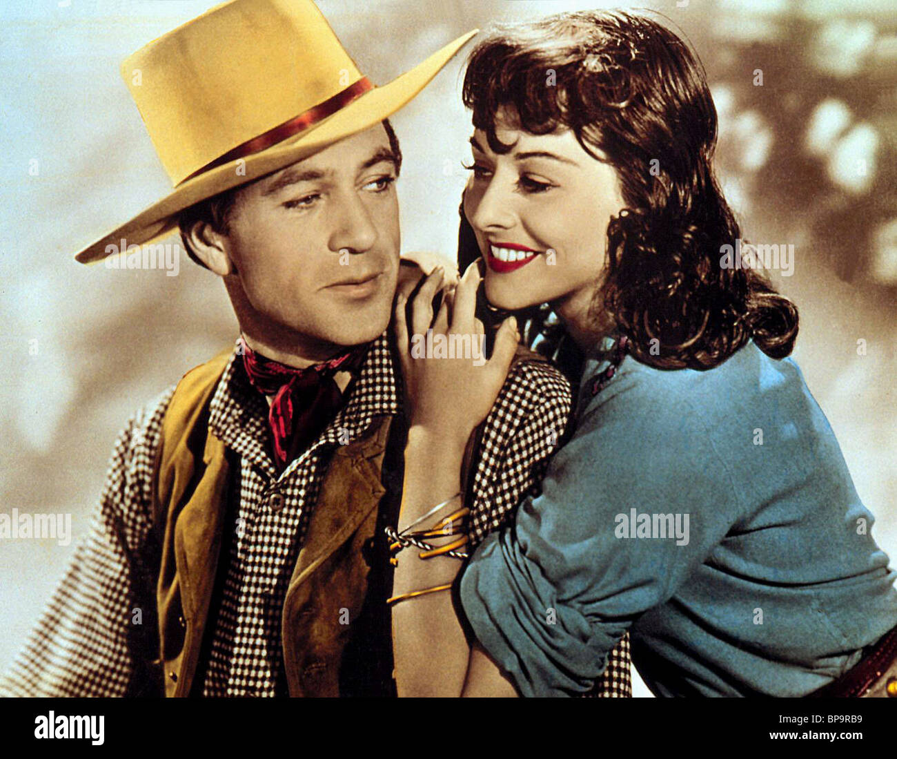 GARY COOPER & PAULETTE GODDARD NORTH WEST MOUNTED POLICE (1940) - Stock Image