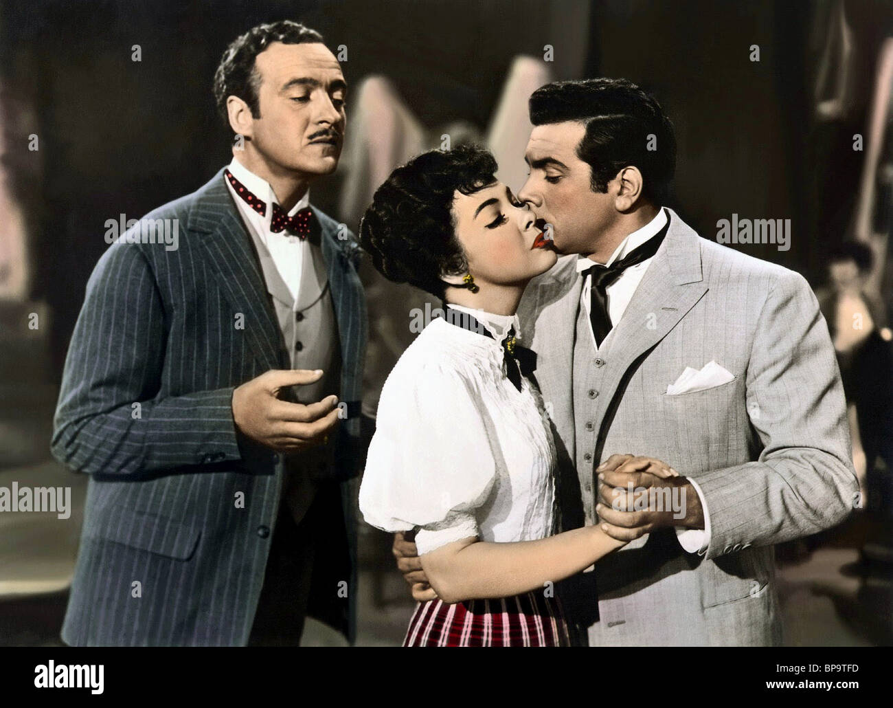 DAVID NIVEN KATHRYN GRAYSON & MARIO LANZA THE TOAST OF NEW ORLEANS (1950) - Stock Image