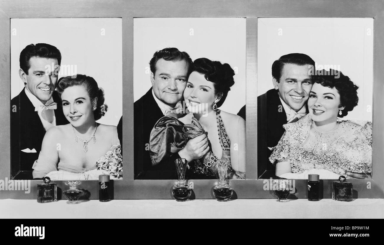 RED SKELTON ANN MILLER HOWARD KEEL & KATHRYN GRAYSON LOVELY TO LOOK AT (1952) - Stock Image