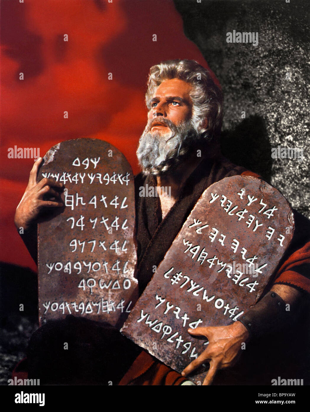 The 10 Most Beautiful Women In The World According To Science: CHARLTON HESTON THE TEN COMMANDMENTS (1956 Stock Photo