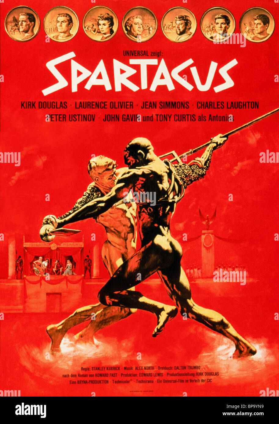 SPARTACUS Movie Poster 1960