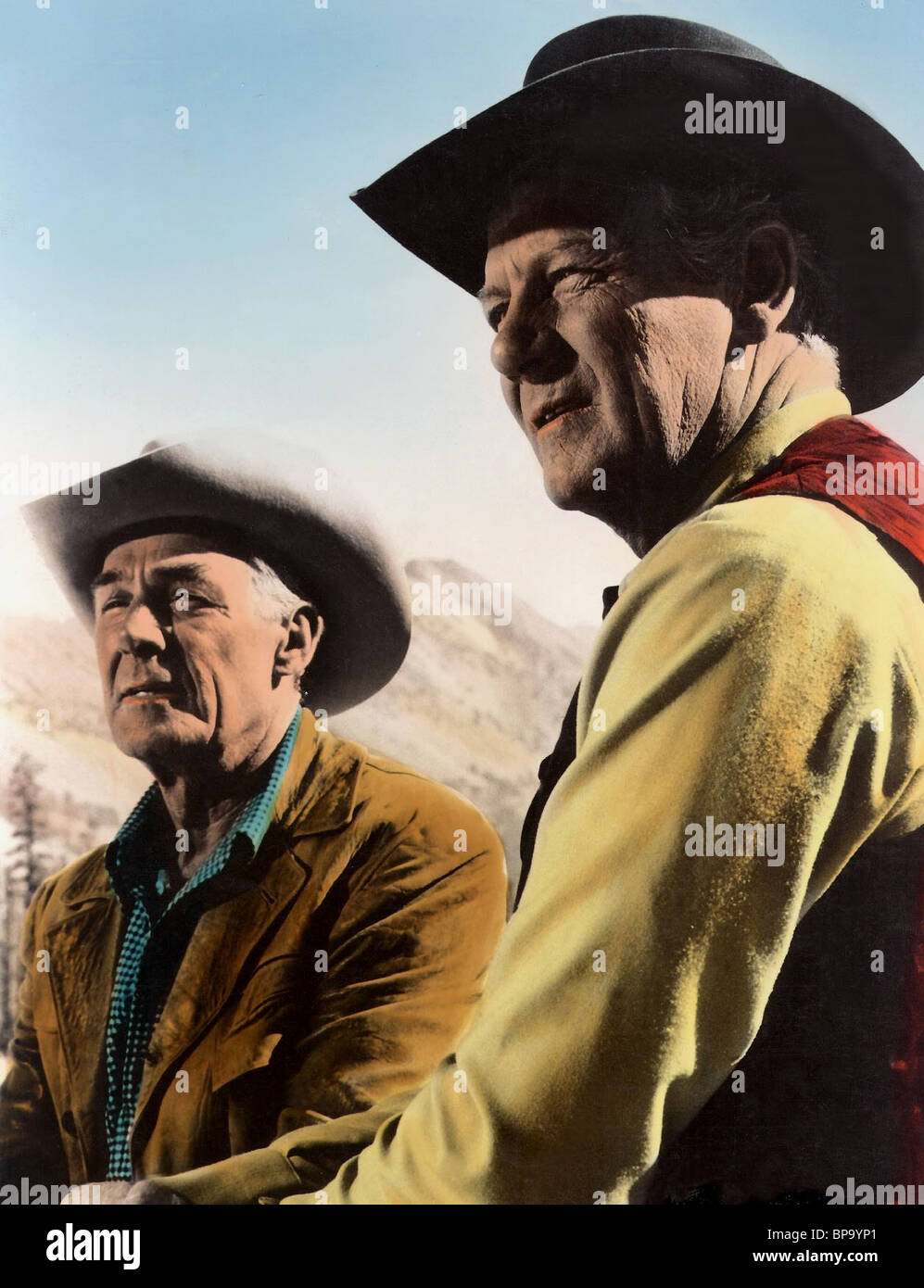 RANDOLPH SCOTT & JOEL MCCREA RIDE THE HIGH COUNTRY; GUNS IN THE AFTERNOON (1962) - Stock Image