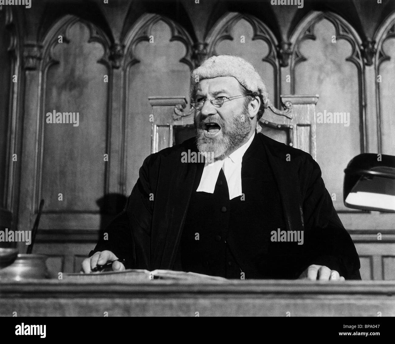JAMES ROBERTSON JUSTICE A PAIR OF BRIEFS (1962) - Stock Image