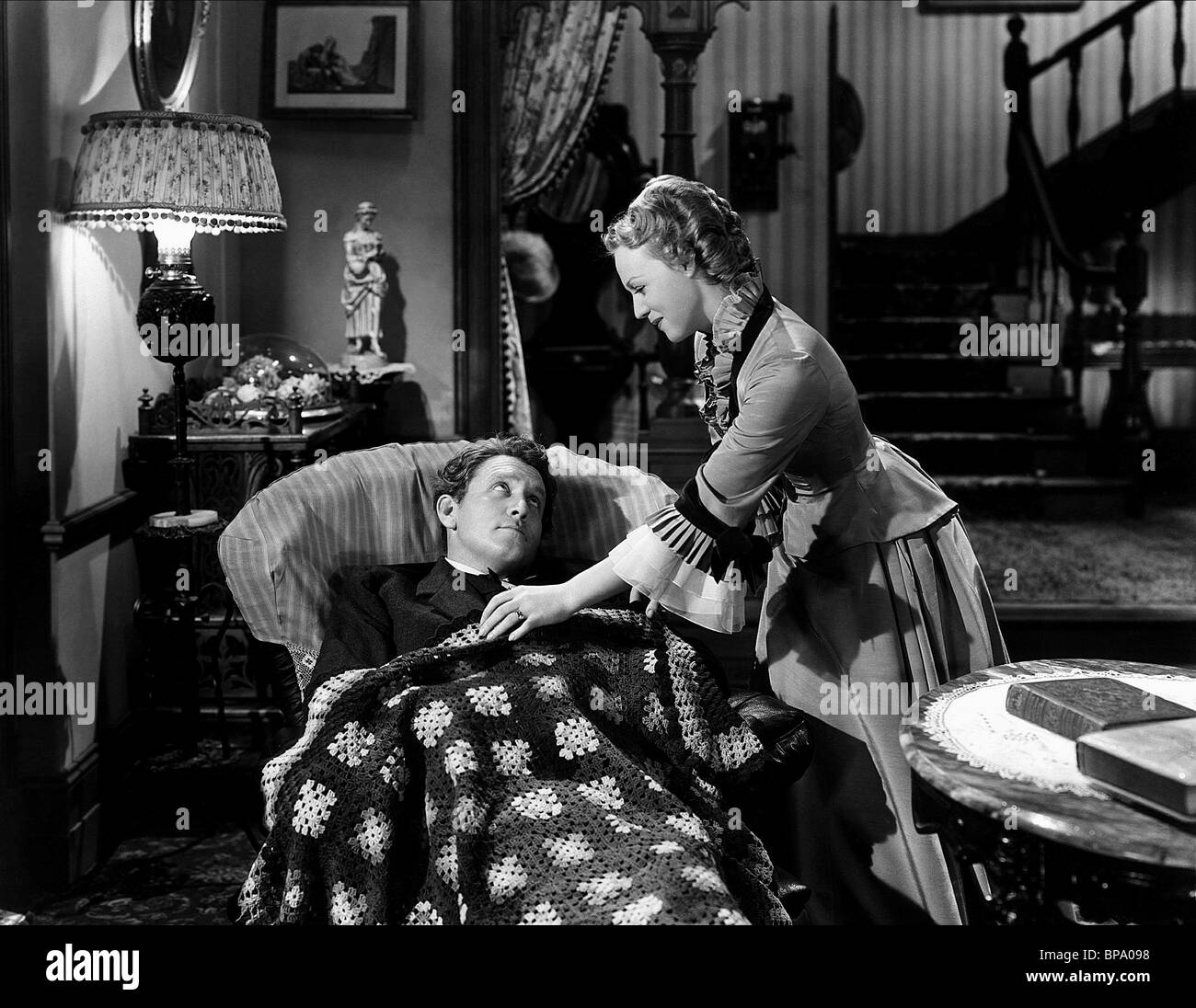 SPENCER TRACY, RITA JOHNSON, EDISON  THE MAN, 1940 Stock Photo