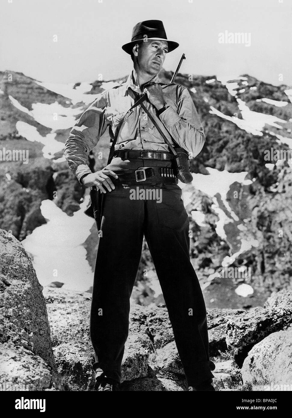 GARY COOPER FOR WHOM THE BELL TOLLS (1943) - Stock Image
