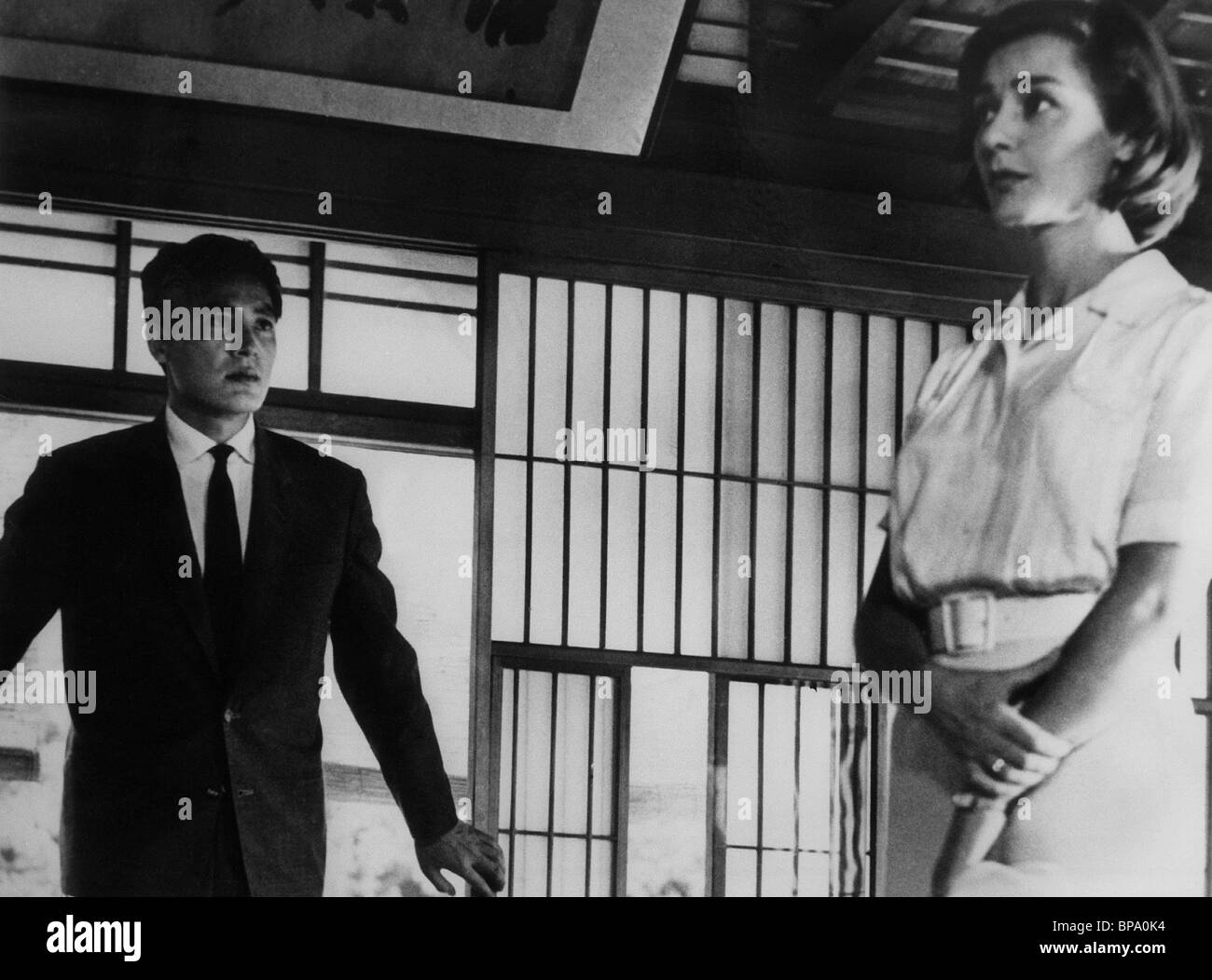 EIJI OKADA, EMMANUELLE RIVA, HIROSHIMA MON AMOUR, 1959 - Stock Image