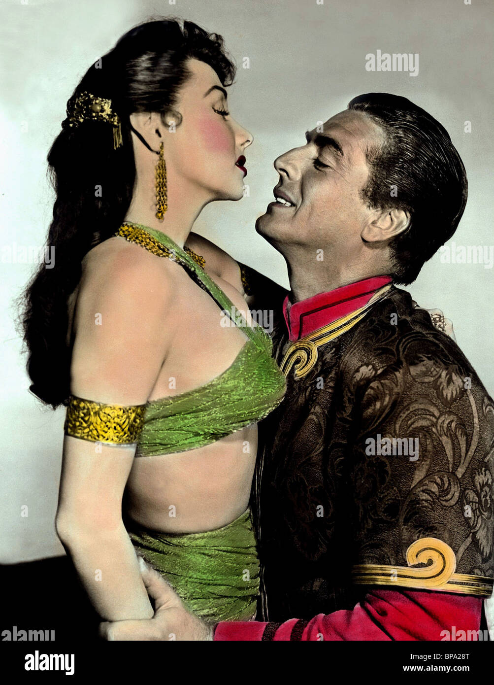 MARI BLANCHARD, VICTOR MATURE, THE VEILS OF BAGDAD, 1953 Stock Photo