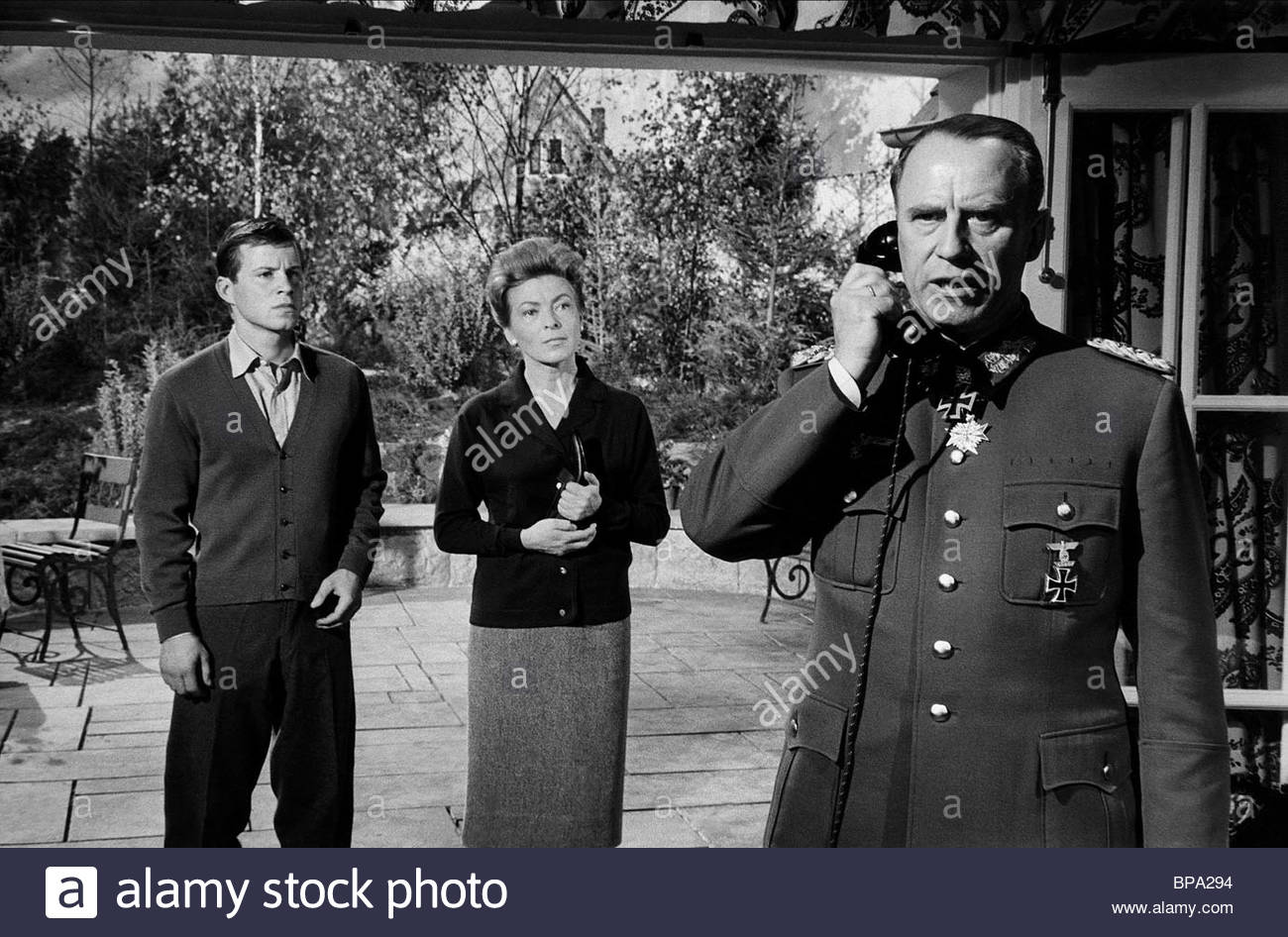 MICHAEL HINZ, RUTH HAUSMEISTER, WERNER HINZ, THE LONGEST DAY, 1962 - Stock Image