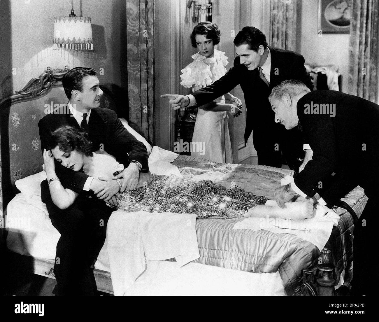 GEORGE BRENT, BEBE DANIELS, RUBY KEELER, WARNER BAXTER, 42ND STREET, 1933 Stock Photo