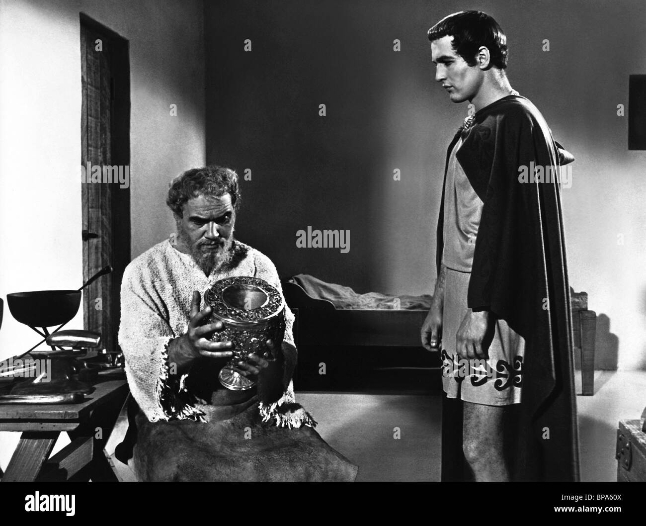 E.G. MARSHALL, PAUL NEWMAN, THE SILVER CHALICE, 1954 - Stock Image