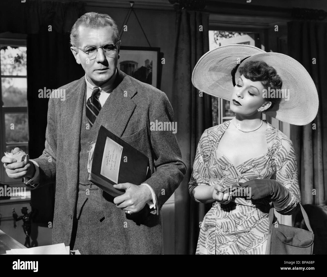 MICHAEL REDGRAVE, JEAN KENT, THE BROWNING VERSION, 1951 Stock Photo