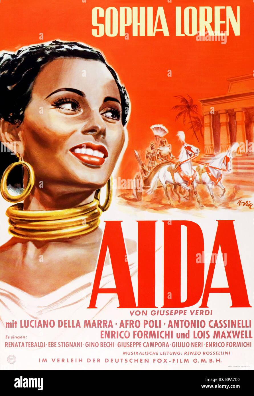 SOPHIA LOREN POSTER AIDA (1953) Stock Photo