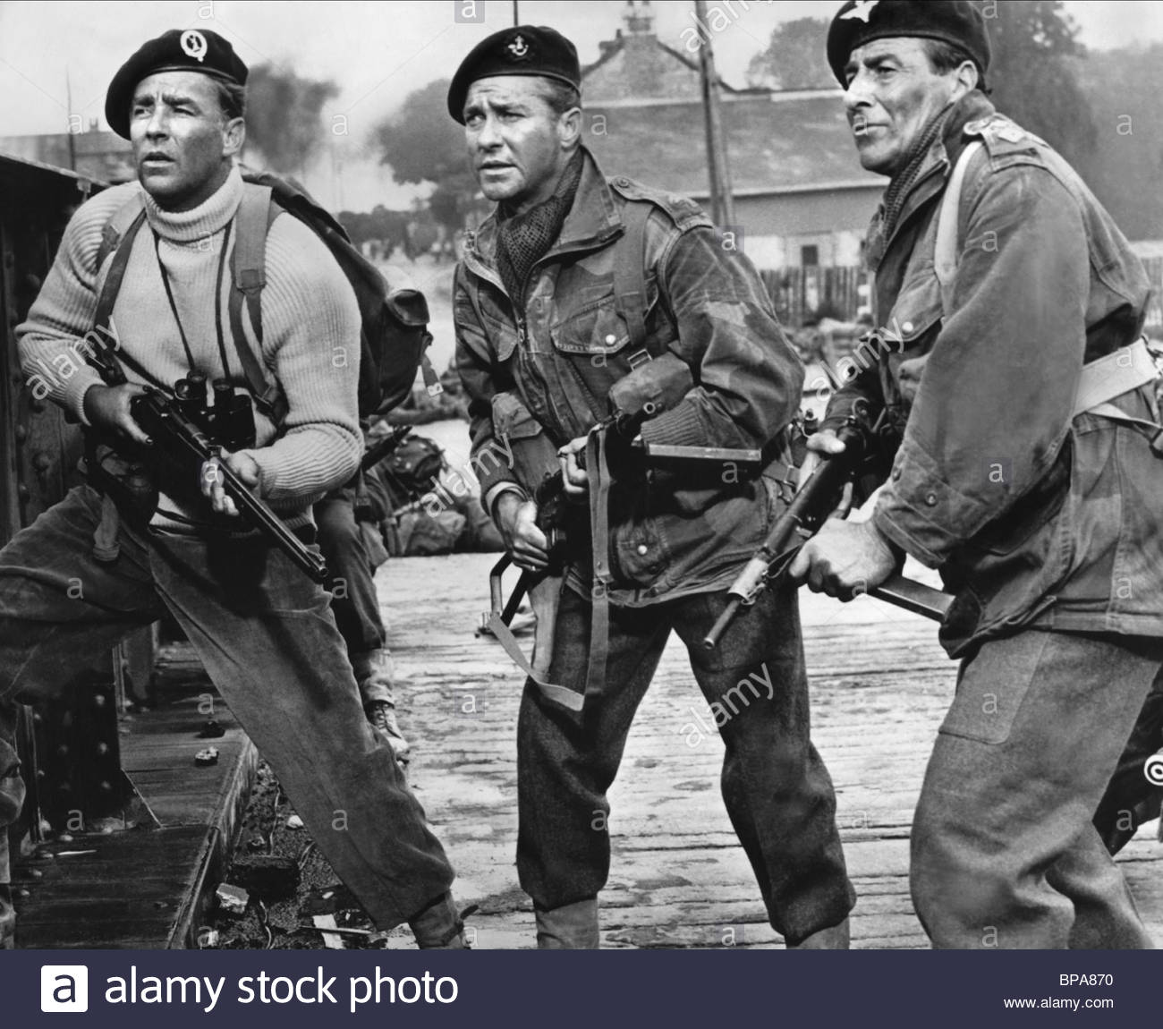 PETER LAWFORD, RICHARD TODD, THE LONGEST DAY, 1962 Stock