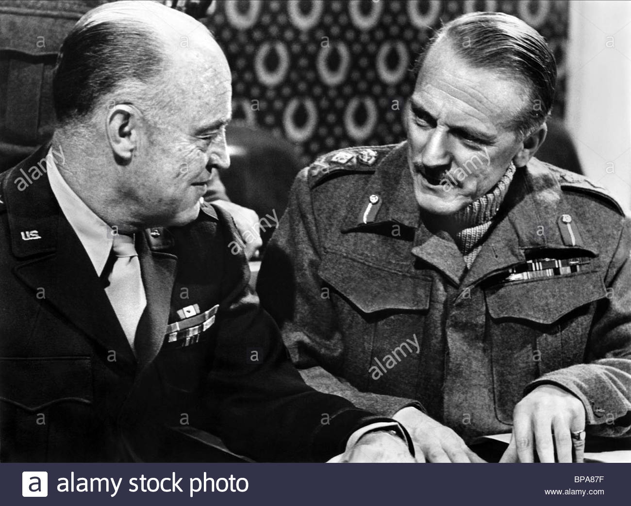HENRY GRACE, TREVOR REID, THE LONGEST DAY, 1962 - Stock Image