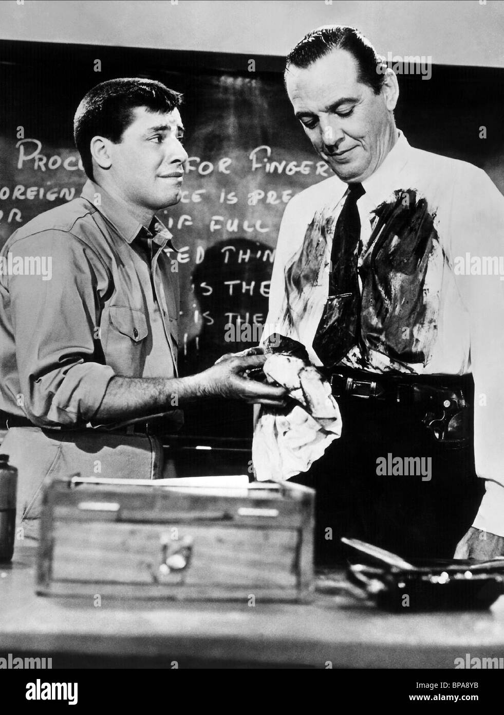 JERRY LEWIS, HORACE MCMAHON, THE DELICATE DELINQUENT, 1957 - Stock Image