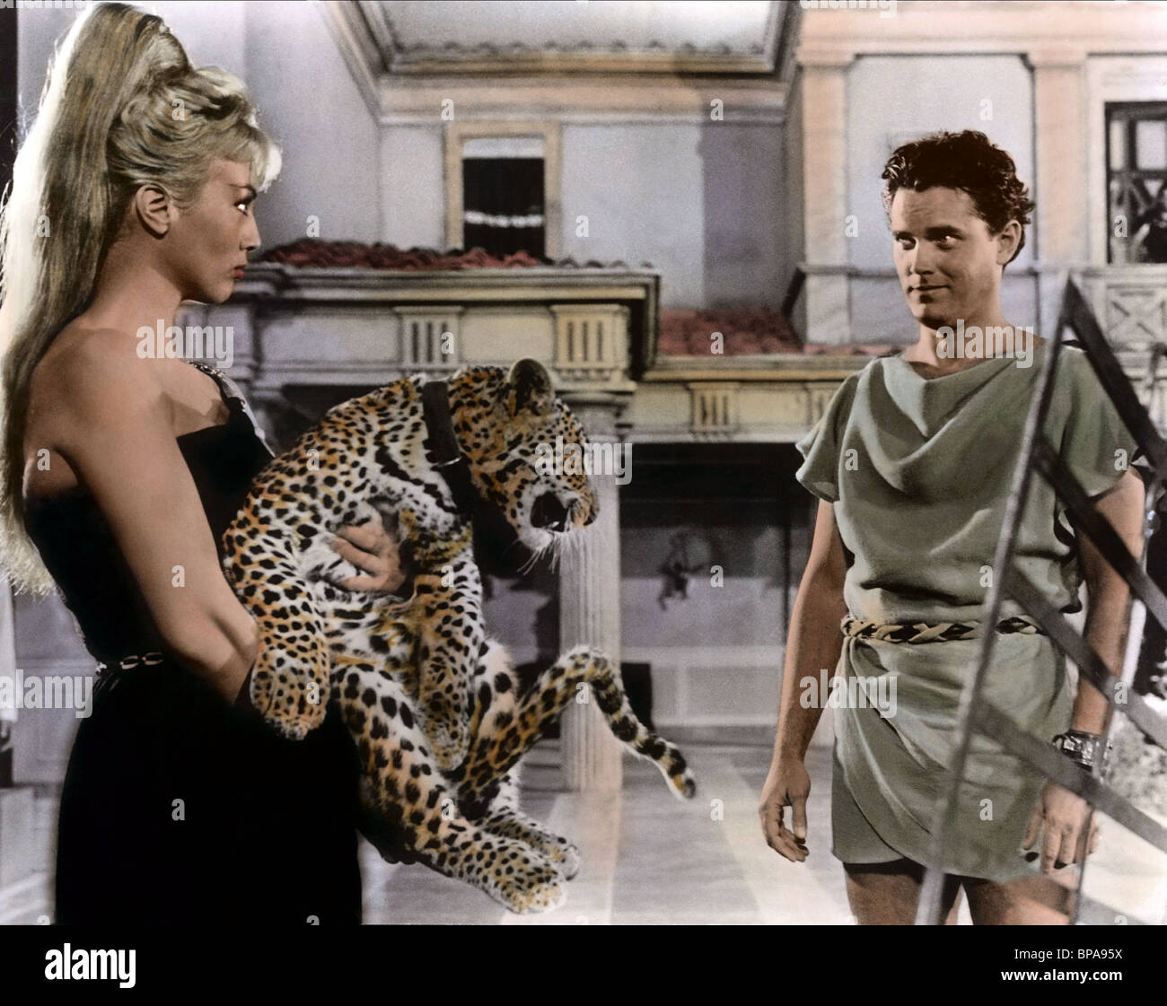MYLENE DEMONGEOT, JEFFREY HUNTER, GOLD FOR THE CAESARS, 1963 - Stock Image