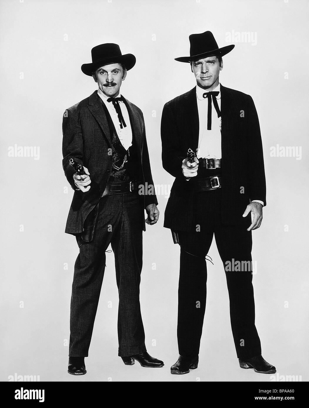 KIRK DOUGLAS & BURT LANCASTER GUNFIGHT AT THE O.K. CORRAL; GUNFIGHT AT THE OK CORRAL (1957)