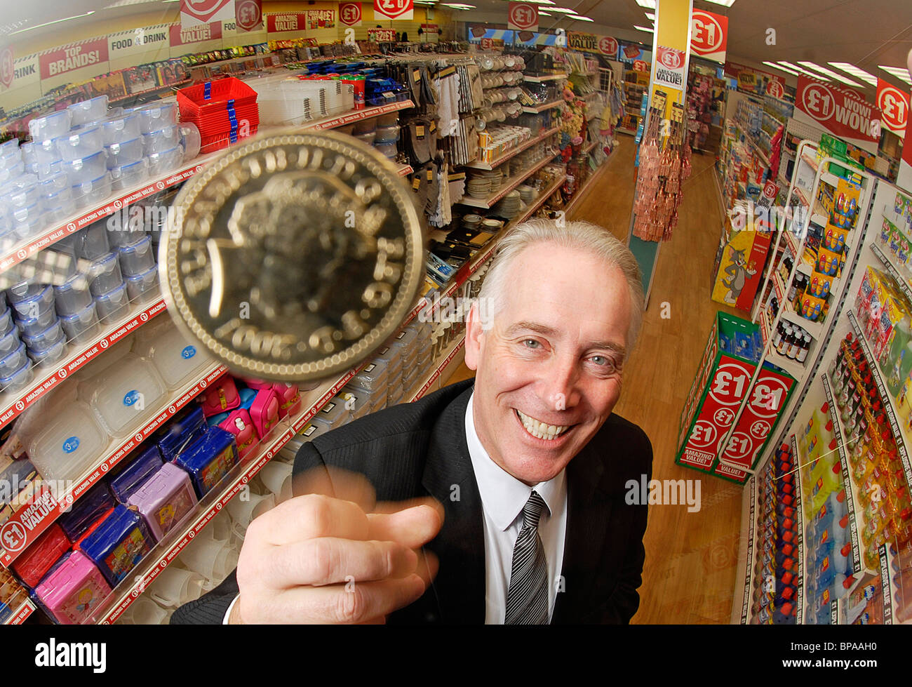 Jim McCarthy, CEO of Poundland - Stock Image
