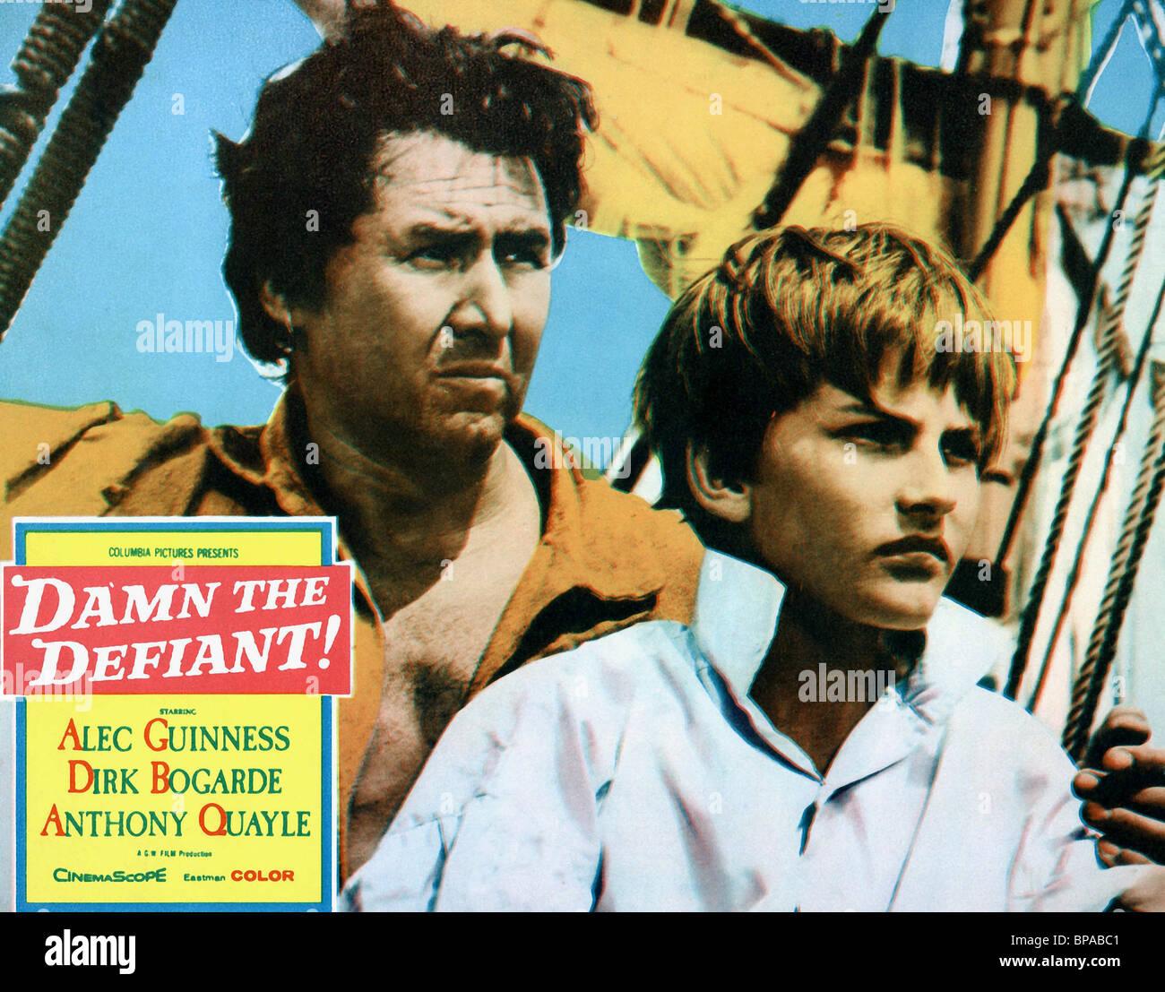 ANTHONY QUAYLE H.M.S. DEFIANT; DAMN THE DEFIANT (1962) - Stock Image