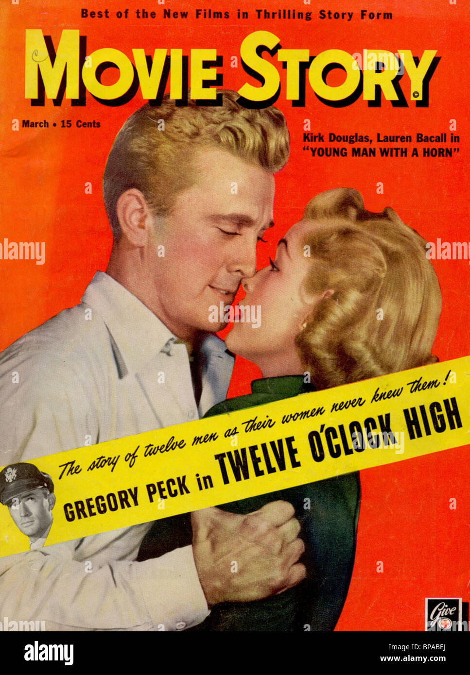 Kirk Douglas Lauren Bacall Movie Story Magazine Cover